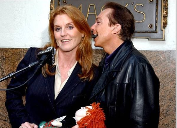 David Cassidy with Sarah Ferguson
