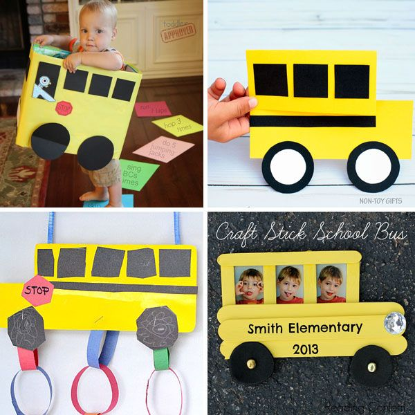 15 School Bus Crafts For Kids Easy Back To School Craft Ideas Bus Crafts School Bus Crafts School Crafts