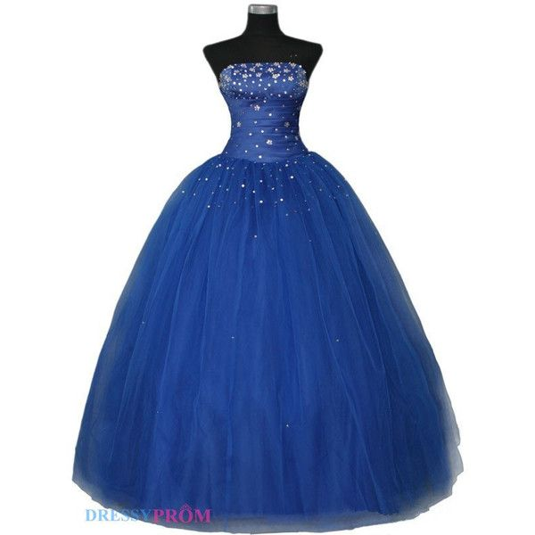 Strapless Prom Dress,Ball Gown Prom Dress,Royal Blue Prom Dress,Lace... ($150) ❤ liked on Polyvore featuring dresses, gowns, vestidos, long dresses, 13. dresses., royal blue prom dresses, royal blue evening dress, blue prom dresses, long sleeve evening gowns and long evening gowns