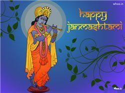 Happy Janmashtami Blue Hd Wallpaper,Happy Janmashtami Festival Hd And Hq Wallpaper For Janmashtami Wishes