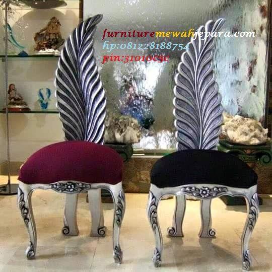 kursi ukir daun produk jepara yang sangat mewah dan berkualitas