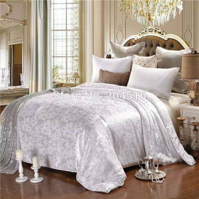 1.5kg Mulberry μετάξι κασκόλ δίδυμο πλήρη κουβέρτες king size κρεβάτι queen σούπερ μαλακό Πέτα για το καλοκαίρι ή το χειμώνα λευκό ροζ κίτρινο νεφρίτη