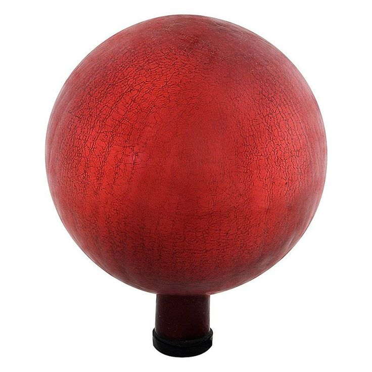 Achla Designs Crackled Glass Gazing Globe Red - G12-RD-C