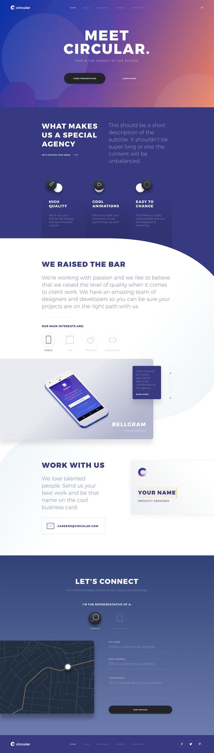 Circular – Awesome pack of unique landing pages. Ui design and concept by Ionut Zamfir
