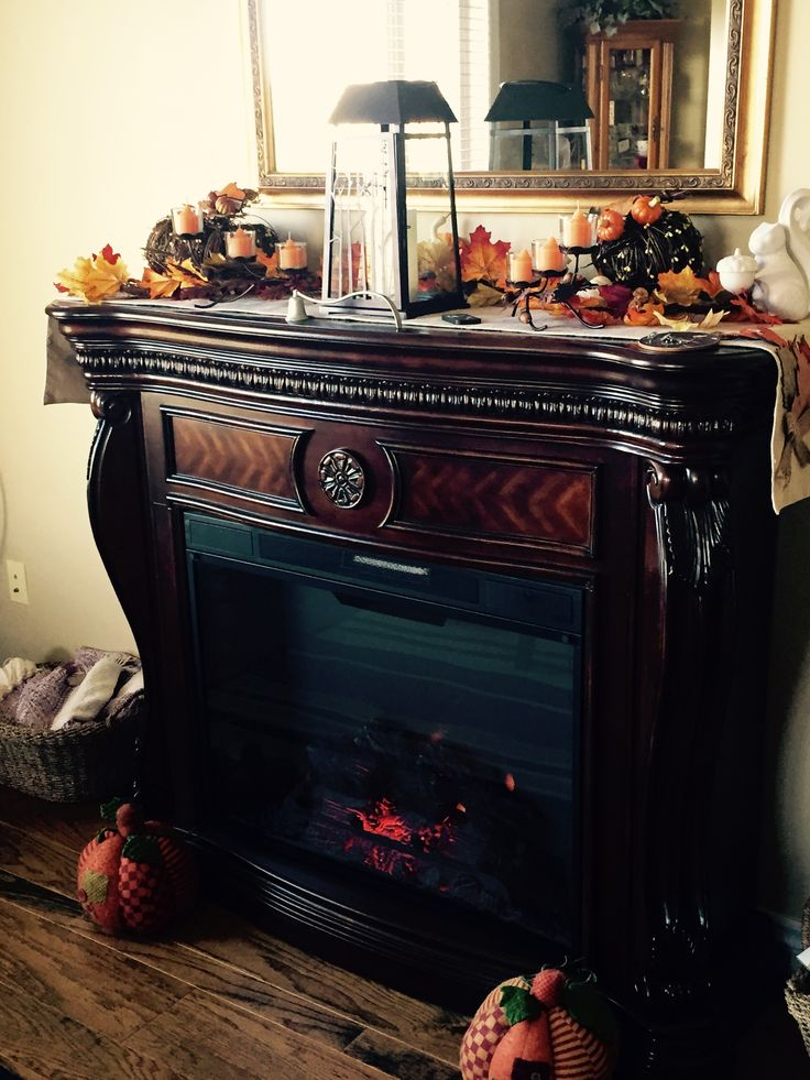 It's fall again, my fireplace is ready! #falldecor #partylite #cozy