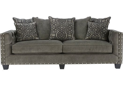 Cindy Crawford Home Sidney Road Gray Sofa . $799.99. 96W x 39D x 38.5H. Find affordable Sofas for your home that will complement the rest of your furniture.