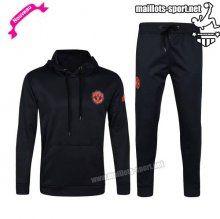 Ensemble De Survetement Homme Foot Manchester United hoodie Noir 2016 2017 Nouveau   maillots-sport