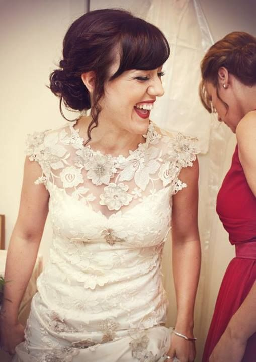 Real bride Kathryn in the Claire Pettibone 'Viola' wedding dress from Leonie Claire Bridal Boutique (UK) http://www.clairepettibone.com/bridal/?cp=gowns/viola
