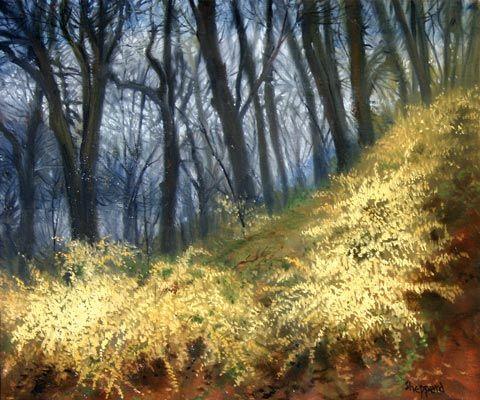 Forsythia in the Woods, Joseph Sheppard http://musapietrasanta.it/content.php?menu=artisti
