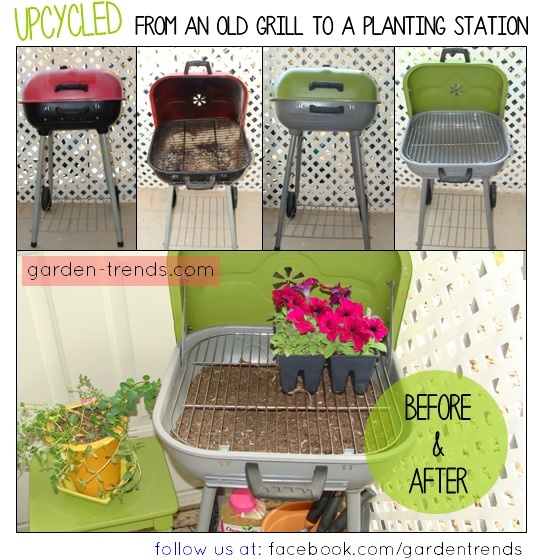 UPCYCLING: FROM AN OLD GRILL TO A PLANTING STATION