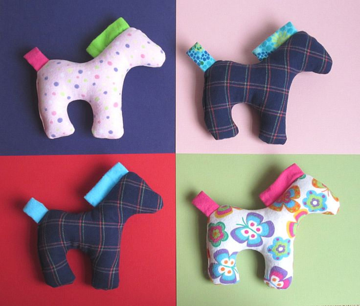 Dixie the Horse Pattern - PDF Sewing Pattern for Stuffed Horse Toy with Small Blanket Safe Toy Horse for Baby or Older Children. $6.50, via Etsy.