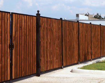 Estate ornamental privacy fence custom iron privacy for Garage fence