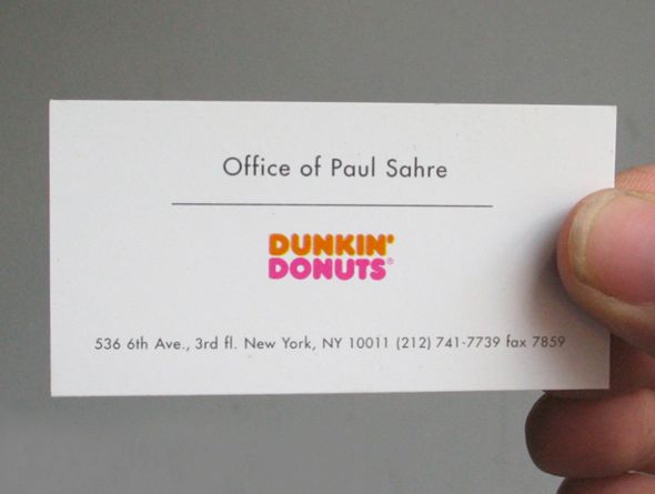 The 117 best paul sahre images on pinterest graphic designers this company card is actually a mini map this was designed like this because sahre companies is located on top of a dunkin donuts reheart Image collections