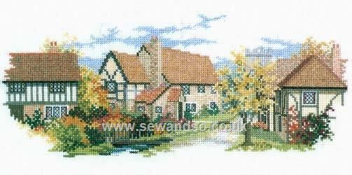 October Lane by Derwentwater Designs (8 of 10), counted cross stitch kit