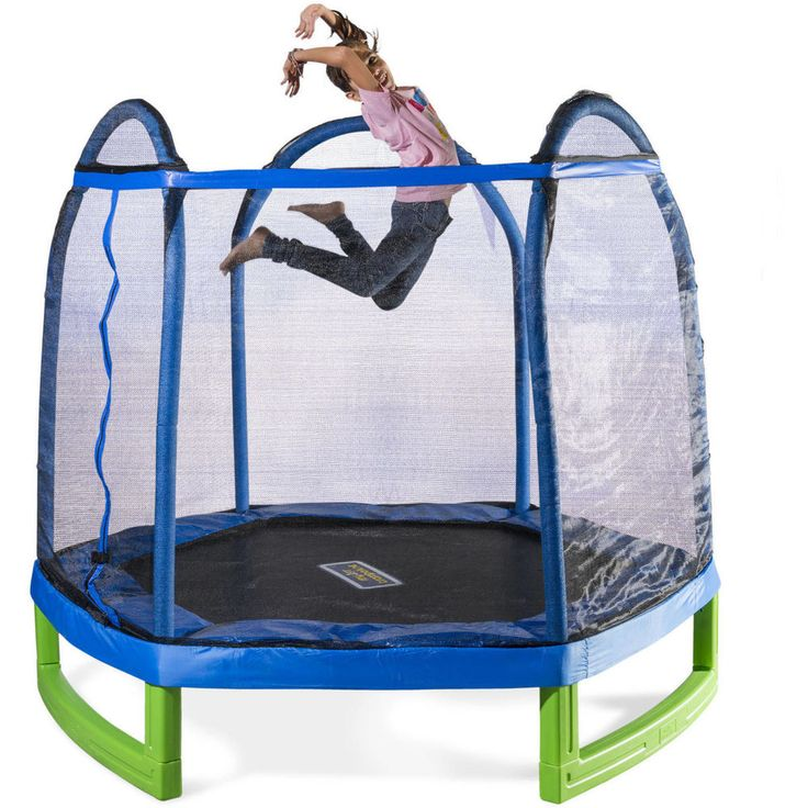 Bounce Pro 7' My First Trampoline Hexagon (Ages 3-10) for Kids #Sportspower