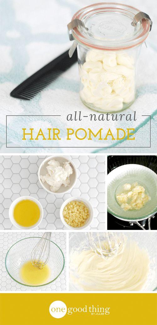 Make Your Own All-Natural Hair Pomade - One Good Thing by JilleePinterestFacebookPinterestFacebookPrintFriendly