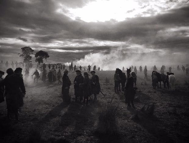 'In Between Takes' Outlander Season 3 [Credit: Matthew B. Roberts via Twitter]