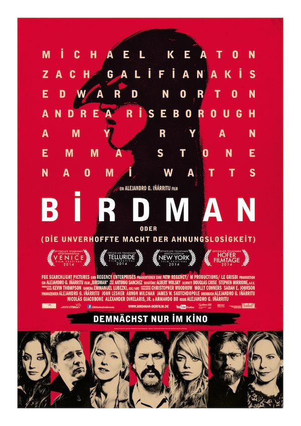 Birdman deutsches Hauptplakat
