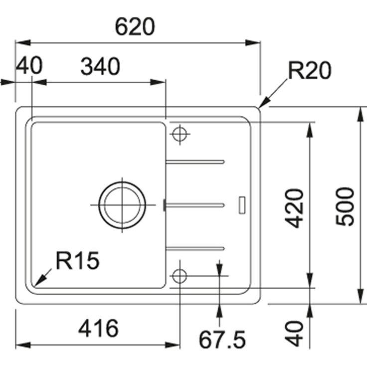 Basis | BFG 611-62 | Fragranit+  Biały polarny | Zlewozmywaki | 599,-