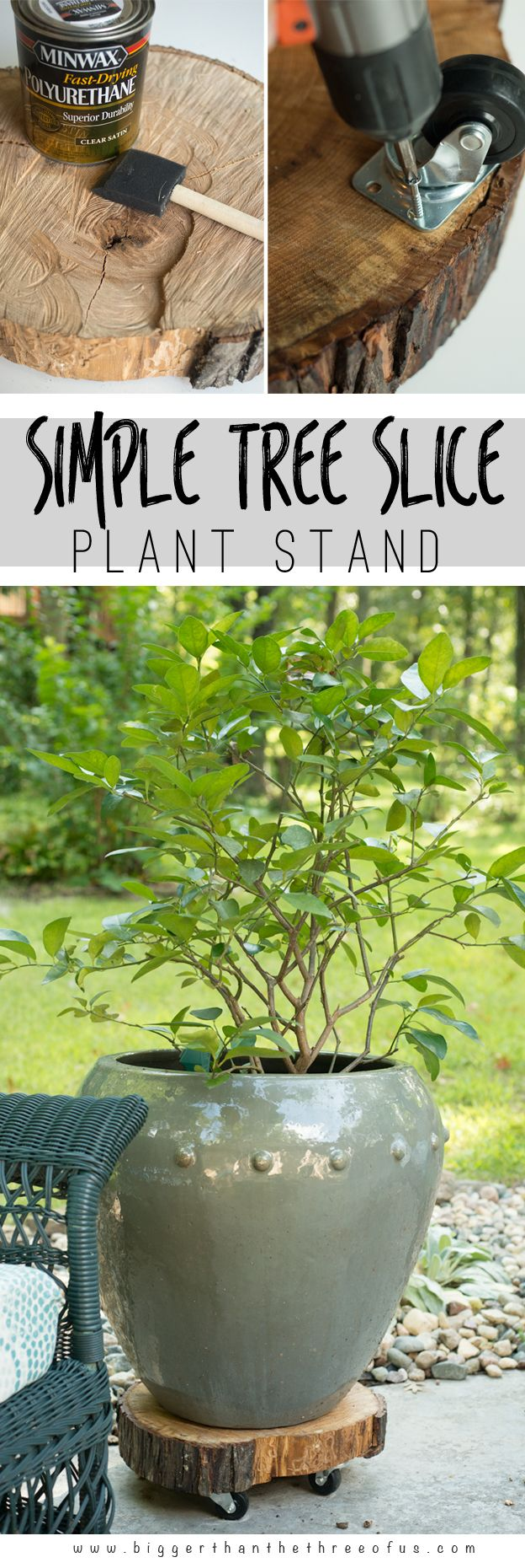 DIY Rolling Plant Stand