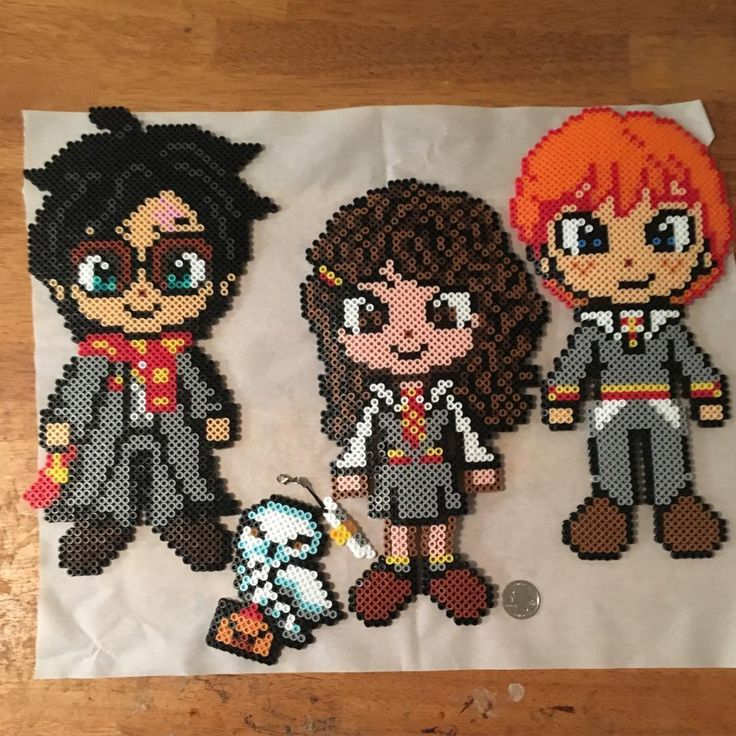 Harry Potter perler beads by lswanberg More