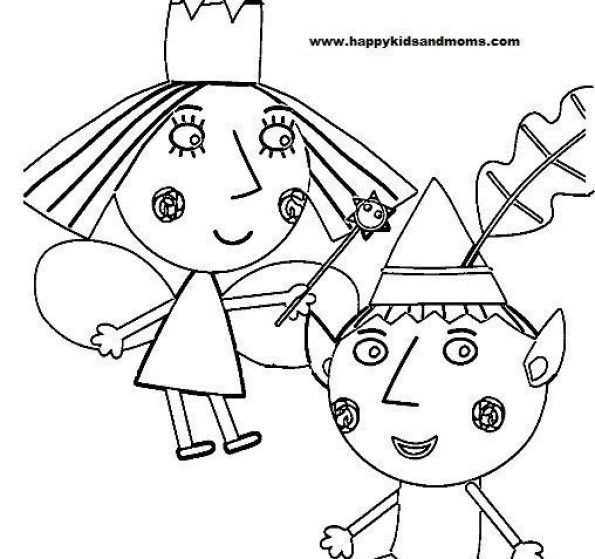 Princess Holly Coloring Pages Ben And Holly Coloring Pages Free Printable Coloring