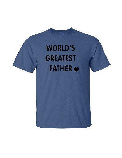 World's Greatest Father - Silkscreen T-Shirt Silk Screen Handmade Graphic Tees Tshirt Men S-M-L-XL Shirt by TreasureTroveCrafts on Etsy