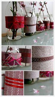 DIY vasi in vetro con collezione floreale