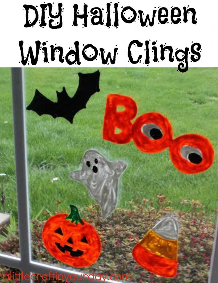 Halloween Window Clings | A Little Craft In Your Day