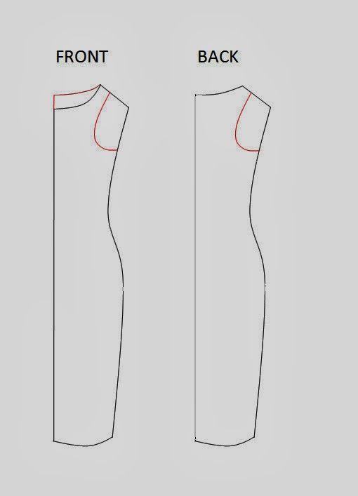 The miracle dress. El vestido que adelgaza. Patrón y tutorial