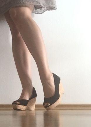 Kaufe meinen Artikel bei #Kleiderkreisel http://www.kleiderkreisel.de/damenschuhe/wedges/109789792-fast-neu-wedges-gr-36-pumpswedgeskorkpeeptoe