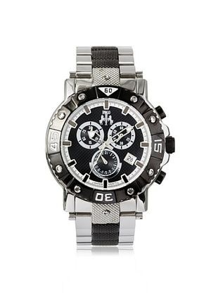 67% OFF Jivago Men's JV9122 Titan Two-Tone Silver/Black Watch