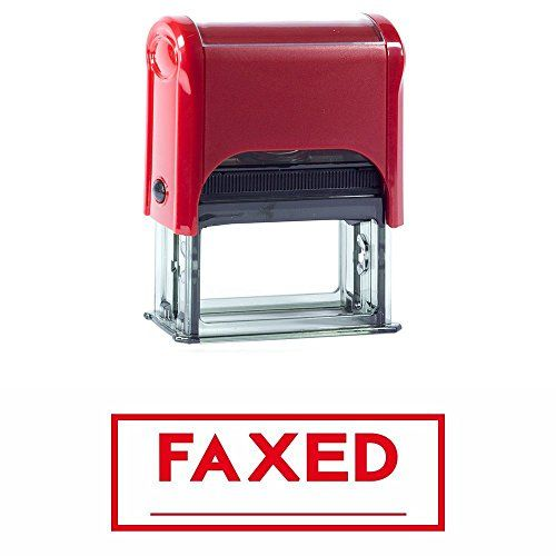 FAXED Self-Inking Office Rubber Stamp (Red) - M
