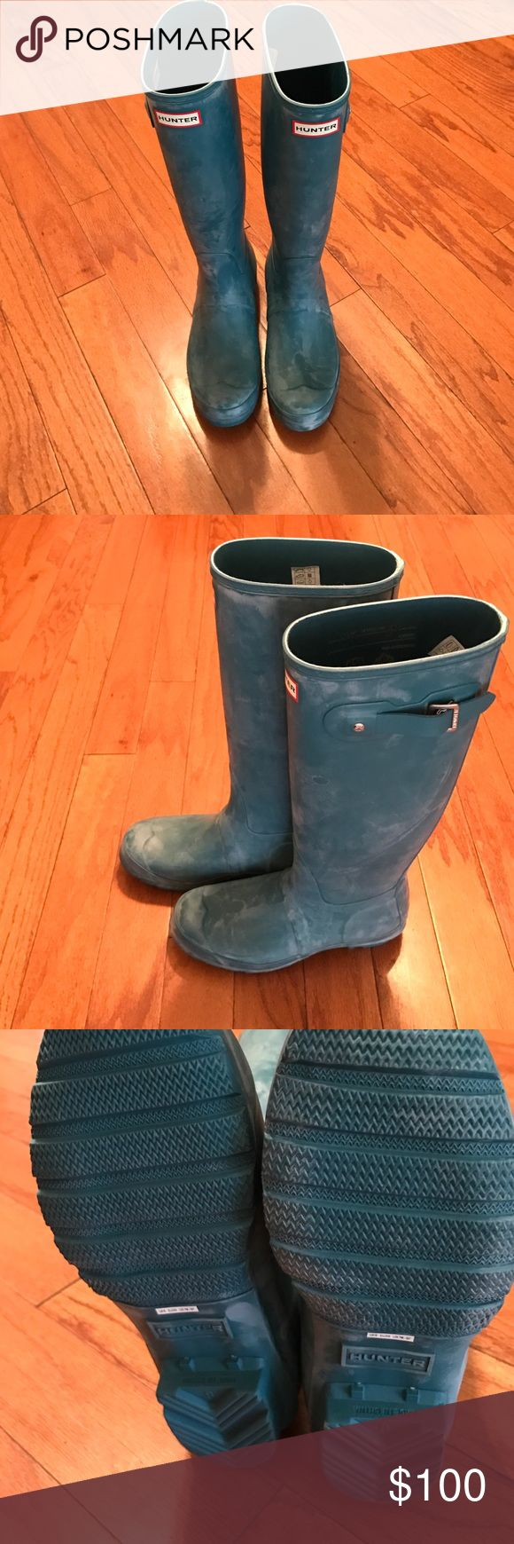NWOT Teal Hunter Boots New without tags! Never worn! US Female size 8 UK 6 EU 39. Feel free to ask question and bundle to receive a discount! (: Hunter Boots Shoes Winter & Rain Boots