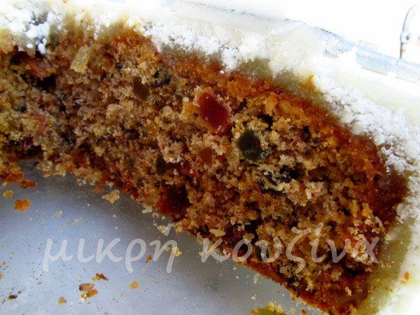 μικρή κουζίνα: Christmas cake - Πλούσιο κέικ Χριστουγέννων