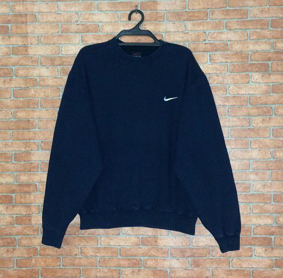 Rare Vintage Nike Swoosh Logo broderie Sweat Vtg Logo