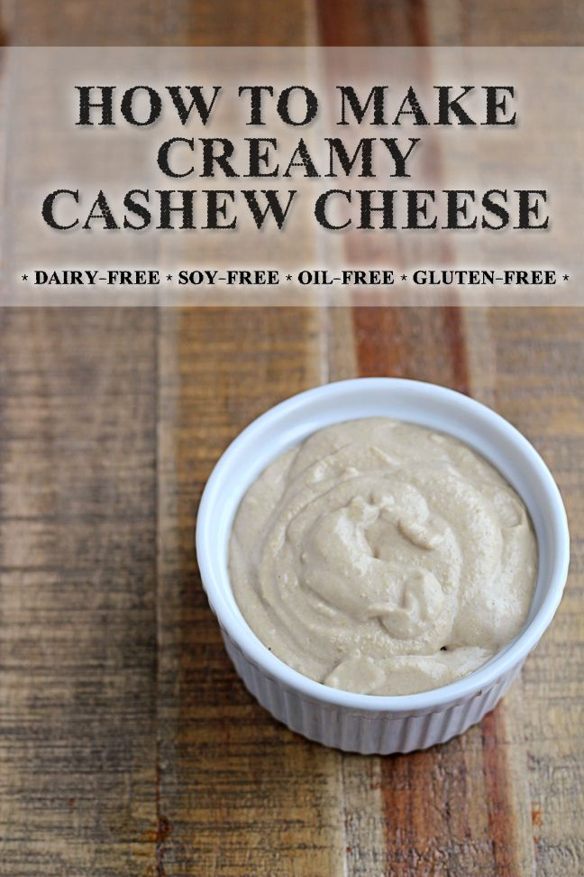 How to make creamy cashew cheese at home. Vegan, vegetarian, gluten-free and only uses three ingredients!