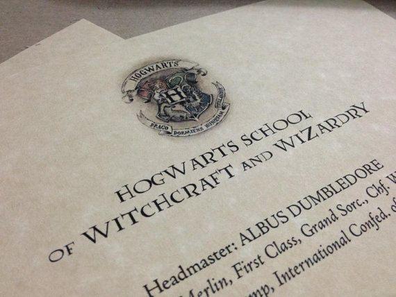 65 best Harry Potter Birthday Party images on Pinterest Hogwarts - hogwarts acceptance letter