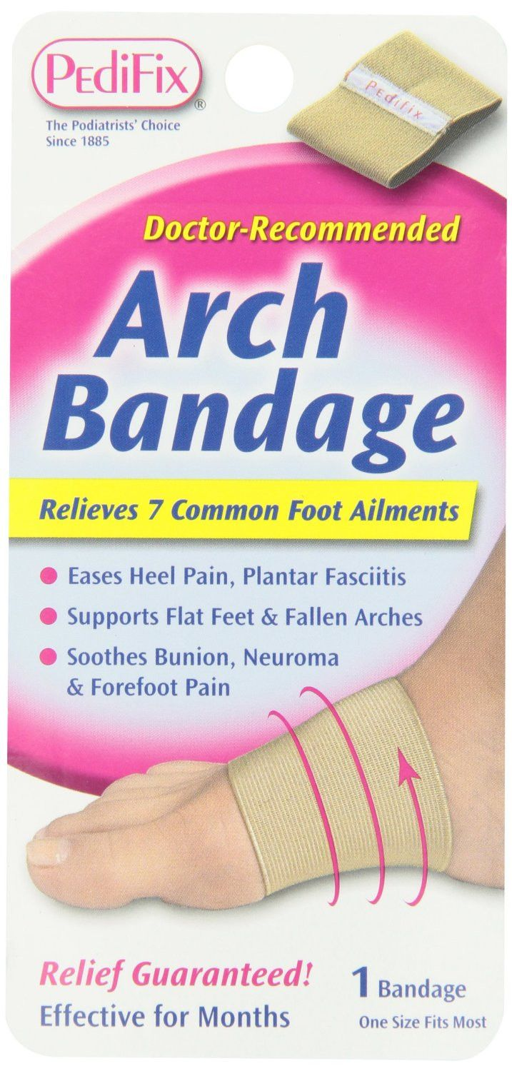 Arch Bandage supports fallen arches and flat feet and eases related toe, ball-of-foot and heel pain. It is helpful for...