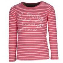 Horseware Girls kinder shirt   Het Horseware Girls Kindershirt is voorzien van een streepjesprint en applicatie op de voorzijde. #horseware #girls #kindershirt #kinderen #fashion #mode #streepjes #stipes #print #ruiter #equestrian #rider #divozahorseworld #rood #wit #roodwitgestreept