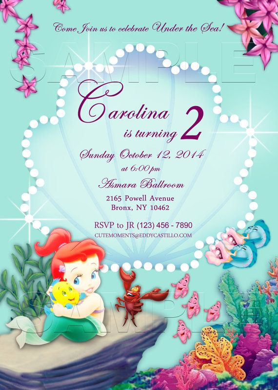 Best Party Invitation DIY Images On Pinterest Invitation - Custom ariel birthday invitations
