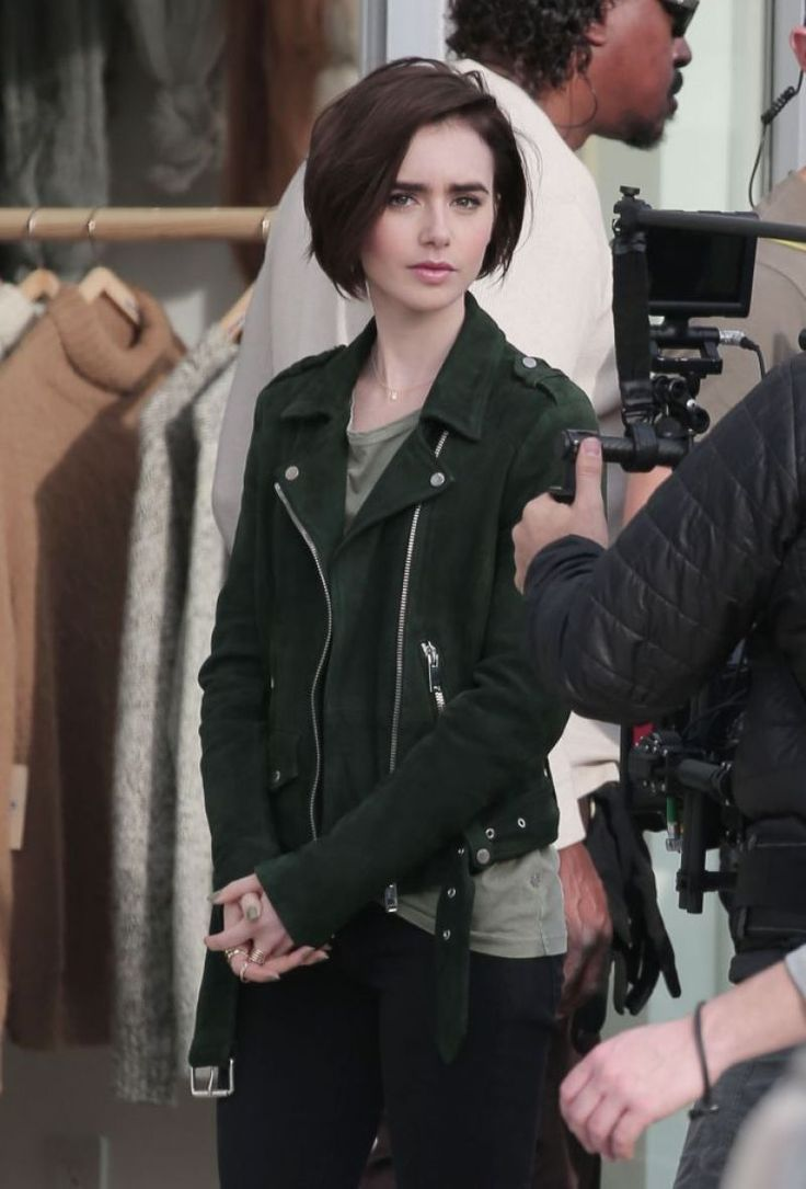 Top Hairstyle Tips For Girls Our Hairstyles Lily Collins Short Hair Short Hair Styles Short Hairstyles For Thick Hair