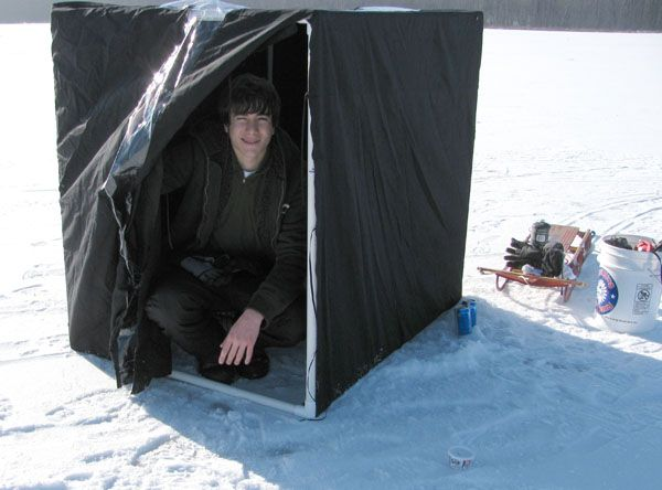 1000 ideas about ice fishing tent on pinterest ice for Ice fishing hut