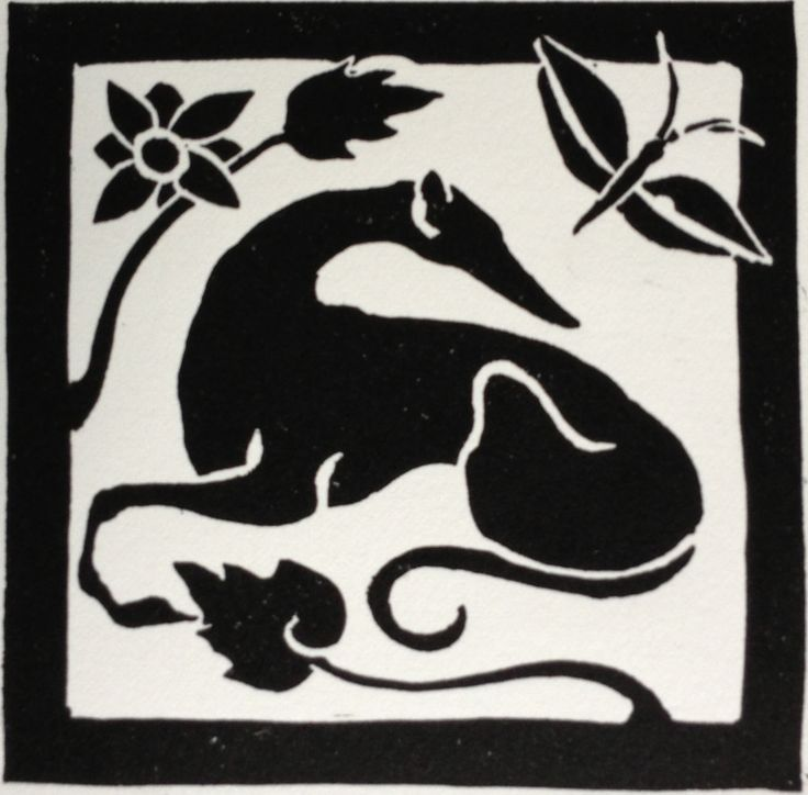 Greyhound silhouette as a tile design. I love the simplicity of this.