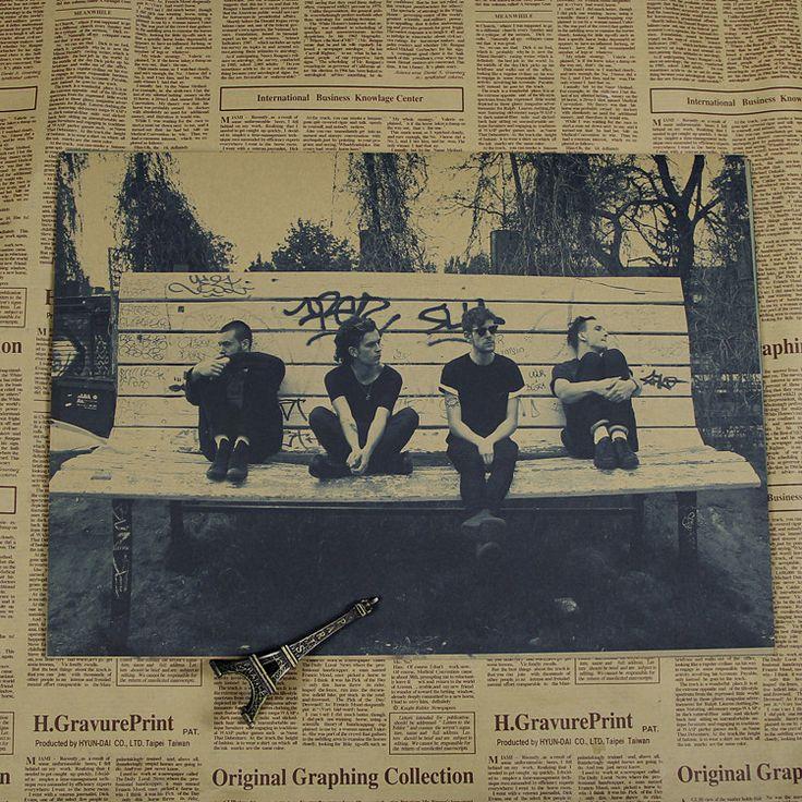 1975 bands/keane/roxette rock saite/The Verve/Travis poster rock band music Guitar Matte Antique Poster Wall Sticker Home Decora