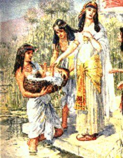 Join told moses and pharaoh s daughter what