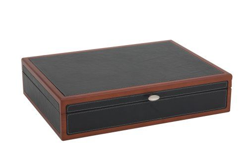 Reed & Barton Adams Flatware Chest, Black Leather With Cherry Trim, 2015 Amazon Top Rated Chests & Caddies #Kitchen