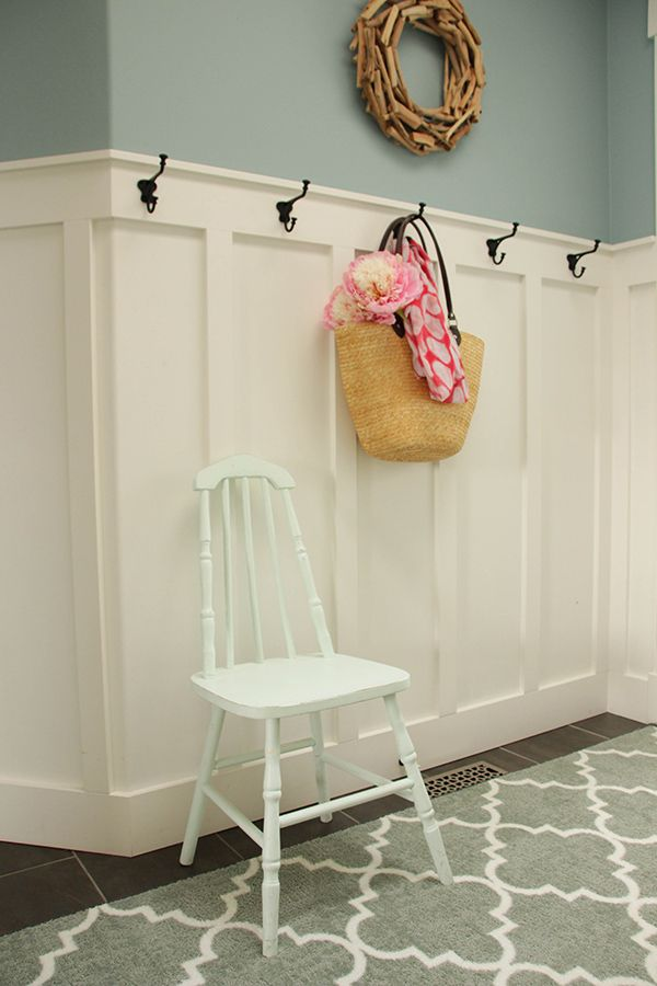 This simple DIY board and batten wainscoting project adds tons of character to your home's entryway or mudroom. Just follow the step-by-step instructions.