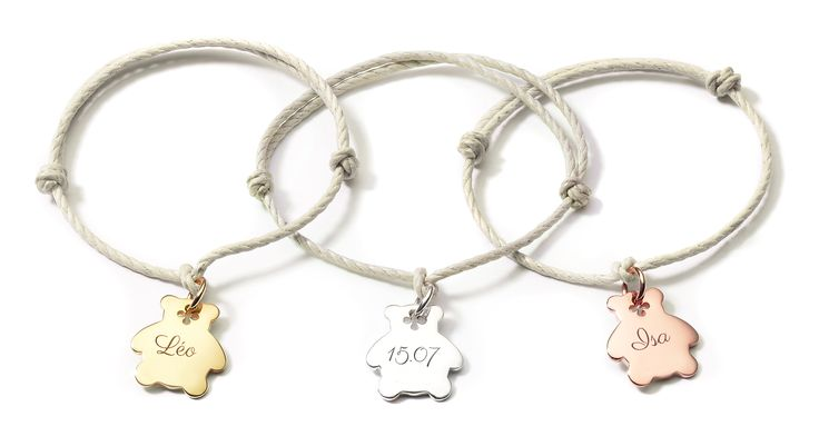 The small bear by Lilou is the Teddy bear of your childhood! Keep a souvenir next to you, and customize your bracelet with the name of your dear (old) cuddly toy! Available on our website #lilou #bracelet #bear #gold-plated #present #souvenir #childhood #teddybear
