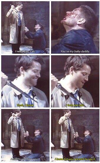 Supernatural Season 8 gag reel (: Jensen & Misha being rotten!!  Love this whole blooper scene :)